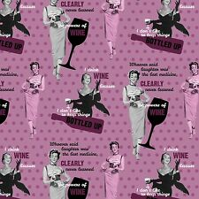 """1 yard Springs Saturday Evening Post """"The Powers of Wine""""  Fabric"""