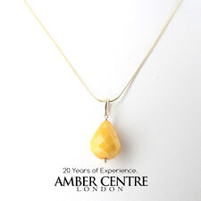Beautifully Handcrafted Honey Amber Pendant with 9ct Gold Loop GP0301 RRP£135!!