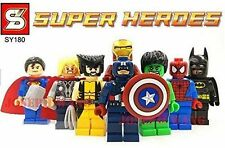2017 8PC Marvel Avengers DC Super Hero Mini Figure Set Fits Lego UK SELLER