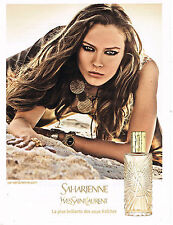 PUBLICITE ADVERTISING 035  2011  YVES SAINT LAURENT  Parfum femme SAHARIENNE