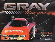 """2013 Johnny Gray Pitch Energy """"2nd issued"""" Dodge Charger Funny Car NHRA postcard"""
