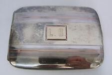 VINTAGE STERLING 14K GOLD CIGARETTE CASE HALLMARK R + D CO. 143.9 GRAMS