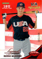 2013 USA Baseball Champions Certified Mirror Red Reese McGuire Die Cut 103/299