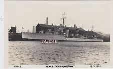 "Royal Navy Real Photo. HMS ""Codrington"" Destroyer. Bombed & Sunk Dover.  c 1931"