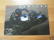 K065 KAWASAKI BROCHURE PROSPEKT FOLDER ZRX1100-C ENGLISH 4 PAGES
