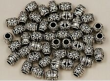 20 pcs Tibetan silver flowers charms spacer bead 8x10 mm