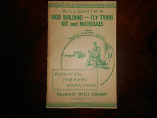 Vintage 1951 WILLMARTHS TACKLE COMPANY ROD BUILDING FLY TYING KIT and MATERIALS