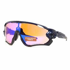 Oakley JawBreaker OO9290-04 Polished Navy Blue Shield Prizm Trail Sunglasses