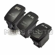 3pcs Front & Rear & LED Light Bar Switch for UTVPOLARIS RZR 4 XP 900 1000 Ranger