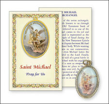 SAINT MICHAEL PICTURE MEDAL & PRAYER CARD - STATUES CANDLES PICTURES ALSO LISTED
