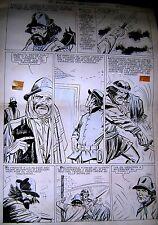 """JUAN OSCAR CAROVINI ORIGINAL ART PAGE COMIC """"JUAN MOREIRA"""" GAUCHO ARGENTINA 70s"""