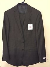 $650 NWT Calvin Klein Mens Size 44 Reg 37 W Extreme Slim Fit Wool 3 Piece Suit