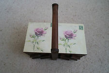 Vintage style wooden sewing / jewelly box with vintage roses design
