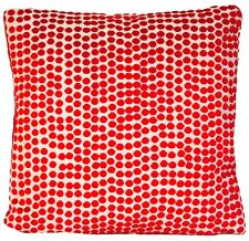 Red Cushion Cover Velvet Pierre Frey Dora Polka Dots Fabric Square
