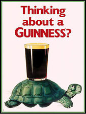 Guinness, Retro Vintage sign caseta De Aluminio Cueva de hombre Bar Pub Club de sala de juegos