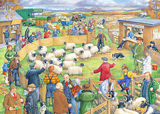 The House Of Puzzles - 250 BIG PIECE JIGSAW PUZZLE - Sheep Sale - Big Pieces