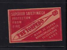 Ancienne   étiquette Allumettes Japon AAA8336  Torpille