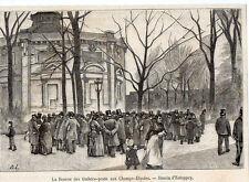 1889  --  BOURSE AUX TIMBRES POSTES AUX CHAMPS ELYSEES   Y215