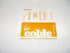 COBLE DAIRY 1/2  PINT  MILK CARTON UNUSED