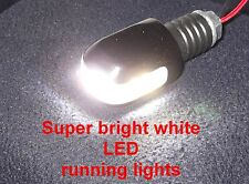 LED Bar End Weights 1x pair Super Bright White LED Running Lights 18mm Internal