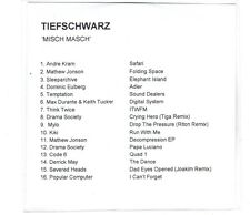 (GN829) Tiefschwarz, Misch Masch 16 tracks various artists - DJ CD