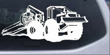 Log Skidder Logging Car or Truck Window Laptop Decal Sticker White 12X5.1