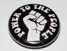 POWER TO THE PEOPLE 25MM / 1 INCH BUTTON BADGE PUNK HIPPY ANARCHY