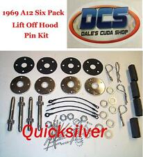 1969 1/2 Dodge Coronet Super Bee A12 440 Six Pack Hood Pin Kit New MoPar