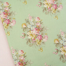 Tilda Happiness is Homemade Sofia Light Green fabric / quilting vintage rose