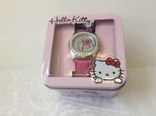 Hello Kitty Niñas Reloj en Lata Rosa Boutique