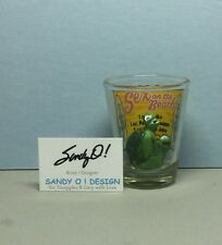 SEX ON THE BEACH Shot Glass with 2 Turtle figurines inside & Drink recipe (NEW)