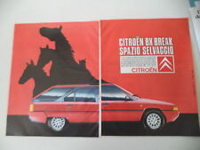 advertising Pubblicità 1986 CITROEN BX BREAK