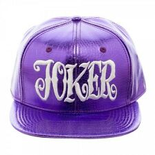 DC COMICS SUICIDE SQUAD - JOKER 'CLOWN PRINCE OF CRIME' PURPLE PU SNAPBACK CAP