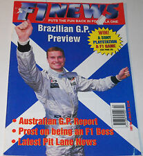 F1 News Magazine No 4 March 19 1997 Martin Whitaker Alain Prost Olivier Panis