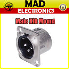 XLR 3 Pin Male Chassis Mount Connector Solder Type