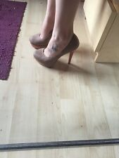 New Look Beige And Coral Heels Size 4