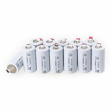 Hot 12PCS Lot of 1.2V 1800mAh White Sub C SC Ni-Cd NiCd Rechargeable Batteries