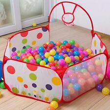 Foldable Kids Ocean Ball Play Pit Pool Outdoor Indoor Hut Toy Tent + Basket LS30