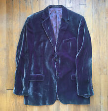 Vintage 80s Gucci ultra rare suit jacket velvet color changing green purple wow