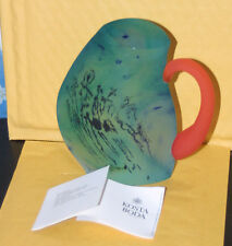 RARE KOSTA BODA Colored Glass Sculpture PITCHER SIGNED Limited Edition