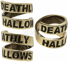 NEW Harry Potter and the Deathly Hallows Ring Burnished Gold Toned Size L 9 1/2