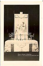 Shrine in Narthex, Shrine of the Little Flower, Royal Oak MI RP Postcard