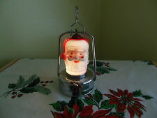 VINTAGE BATTERY OPERATED ROSE CHRISTMAS SANTA CLAUS LIGHT UP LANTERN