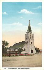 1915-1930 Postcard; St. Mary's Catholic Church, Santa Maria CA Santa Barbara Co.