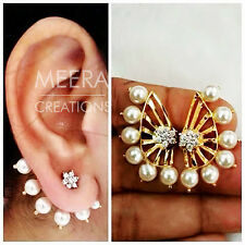 Beautiful Stylish Designer Fashion Latest Pearl Stud Earrings For Women Girls Lo