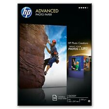 HP ADVANCED A4 GLOSS / GLOSSY INKJET PHOTO PAPER 250GSM - 25 SHEETS (Q5456A)