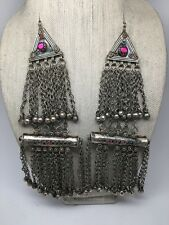 2x Vintage Afghan Kuchi Tribal ATS Boho Berber Jingle Statement Pendants, KC390