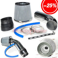"2.5""-3.0"" UNIVERSAL COLD AIR Intake INDUCTION HOSE KIT System & Filter CHROME"