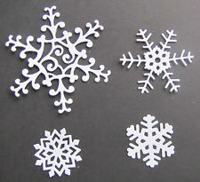 5 sets of Tattered Lace 'Snowflakes' die-cuts on 300gsm pearlescent white card