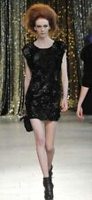 BNWT Mulberry Fall 2010 Runway Black Crushed Sequin Embroidered Dress UK 6-8